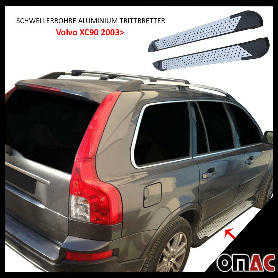 schwellerrohre aluminium trittbretter f r volvo xc90 2003 2015 almond 193 ebay. Black Bedroom Furniture Sets. Home Design Ideas