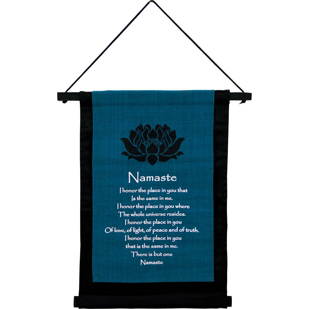 Cotton Namaste Wall Hanging Banner 406 X 310 Mm Wicca