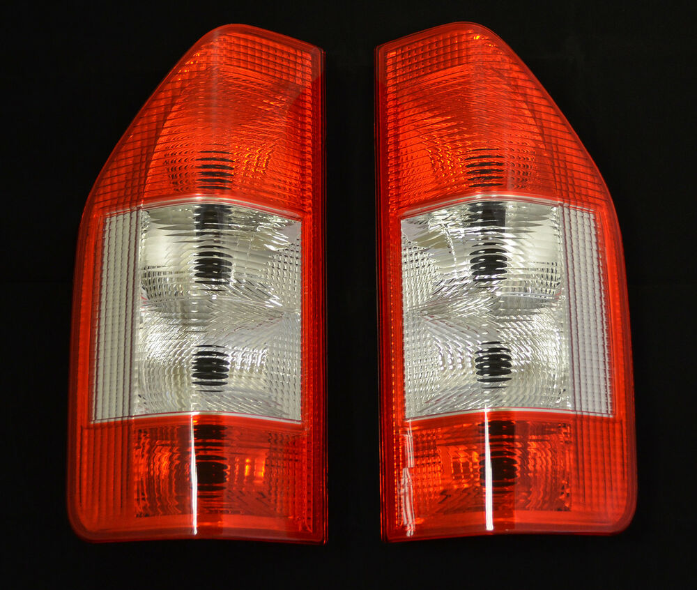 Rear tail lights lamps lens pair set for mercedes benz for Mercedes benz tail light lens