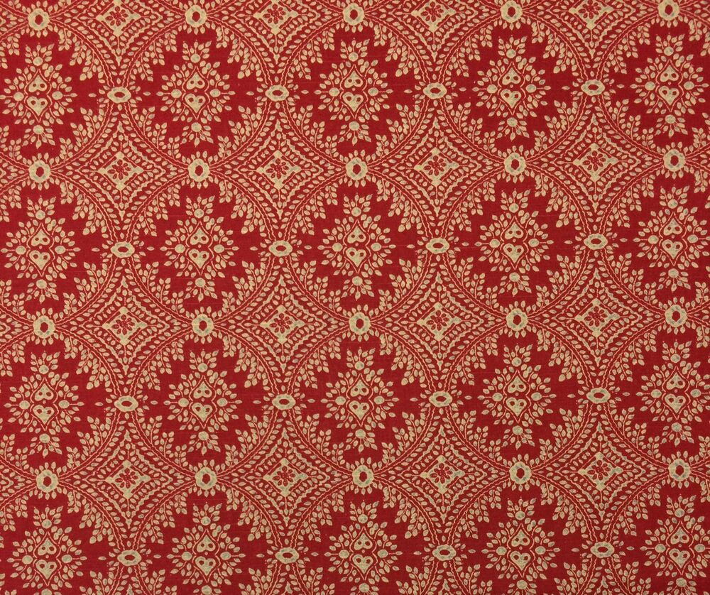 ballard designs sydney berry red medallion linen designer