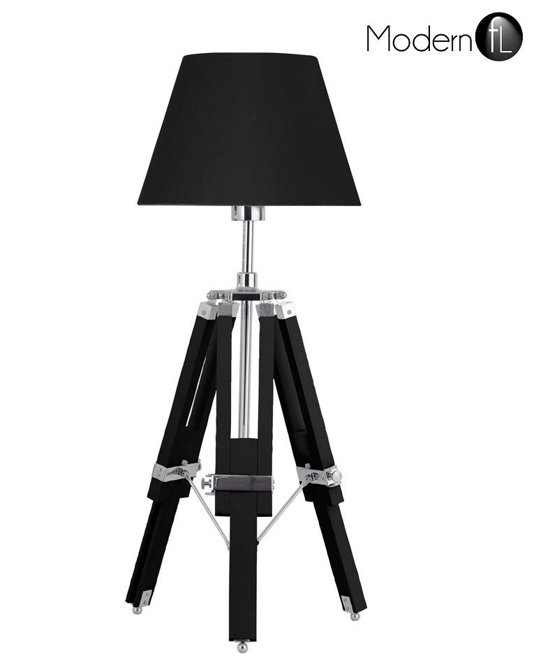 new tripod table lamp nautical style bedside table lamp with black. Black Bedroom Furniture Sets. Home Design Ideas