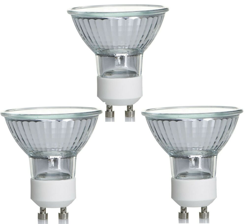 Pack Of 12 Gu10 50w Halogen Bulbs 240v Dimmable Gu10 Light Bulbs Ebay