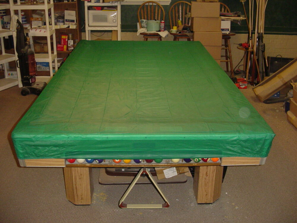 FITTED CORNERS 9 FT. POOL TABLE COVER cues pool billiards ...