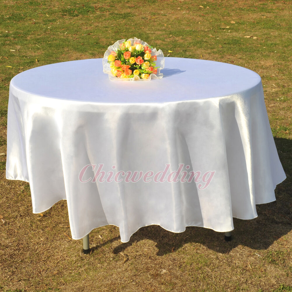 90 108 round tablecloth banquet wedding restaurant party for 108 round table cloth