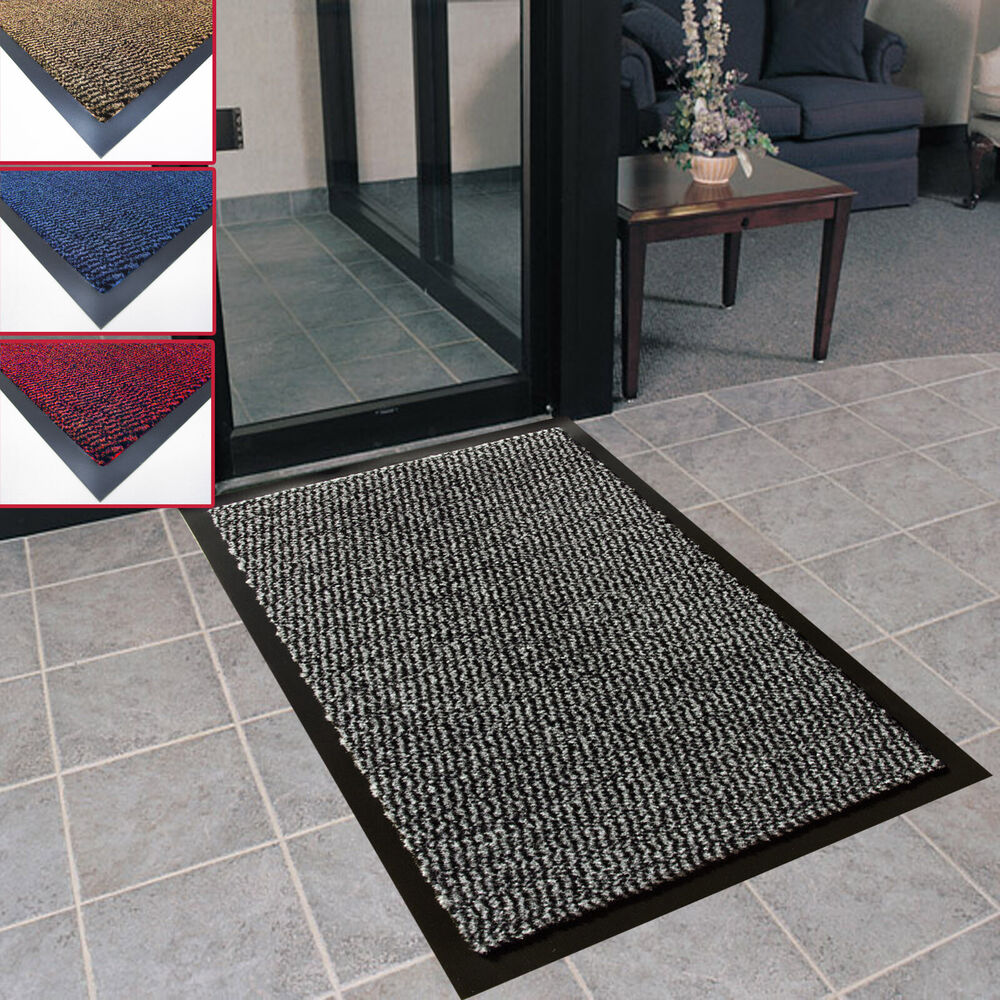 heavy duty non slip dirt ribbed barrier large small entrance floor door mat home ebay. Black Bedroom Furniture Sets. Home Design Ideas