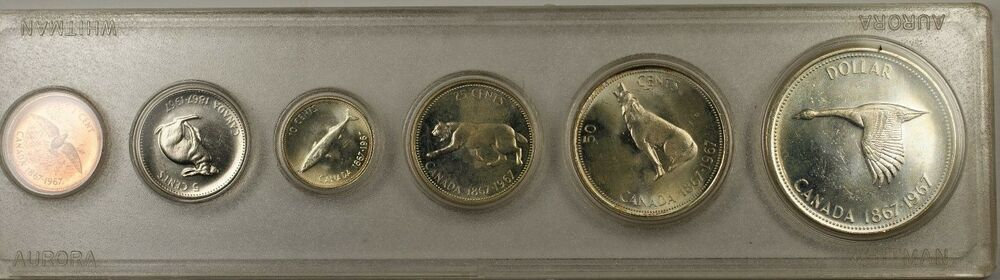 1967 Canada Centennial Commemorative 6 Coin Brilliant