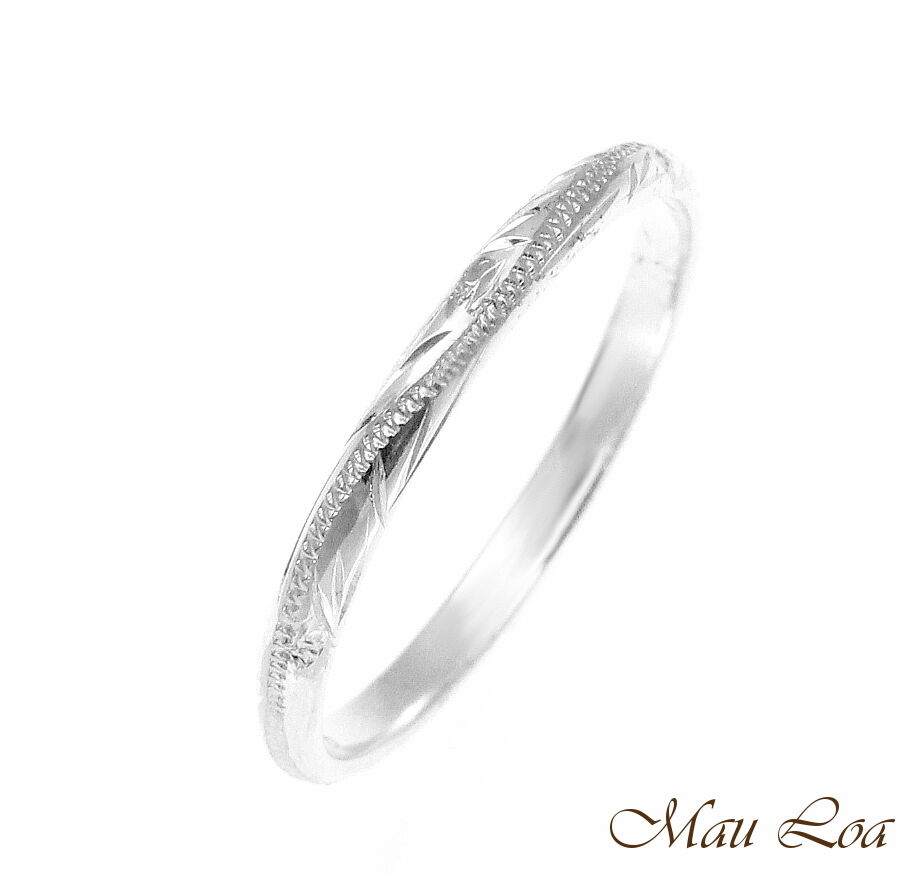 925 sterling silver 2mm hawaiian scroll hand engraved ring. Black Bedroom Furniture Sets. Home Design Ideas