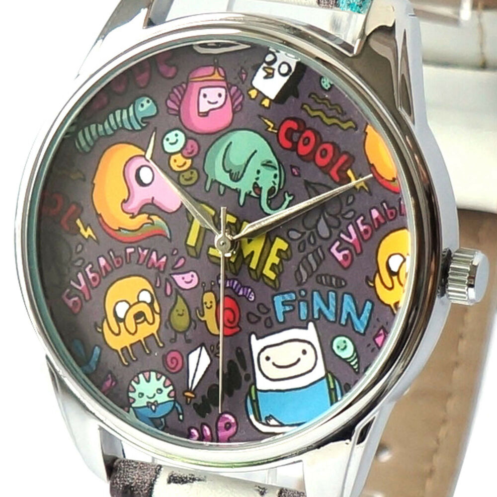 Adventure time watch wrist analog deadpool black character finn movie new s gift ebay for Adventure watches