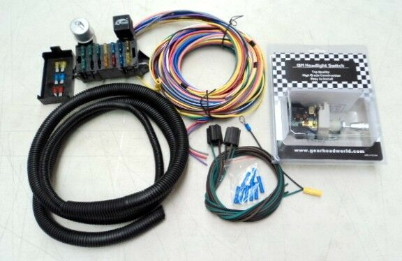 DeLuxe 15 Universal Street Rod Wiring Wire Kit Bonus With