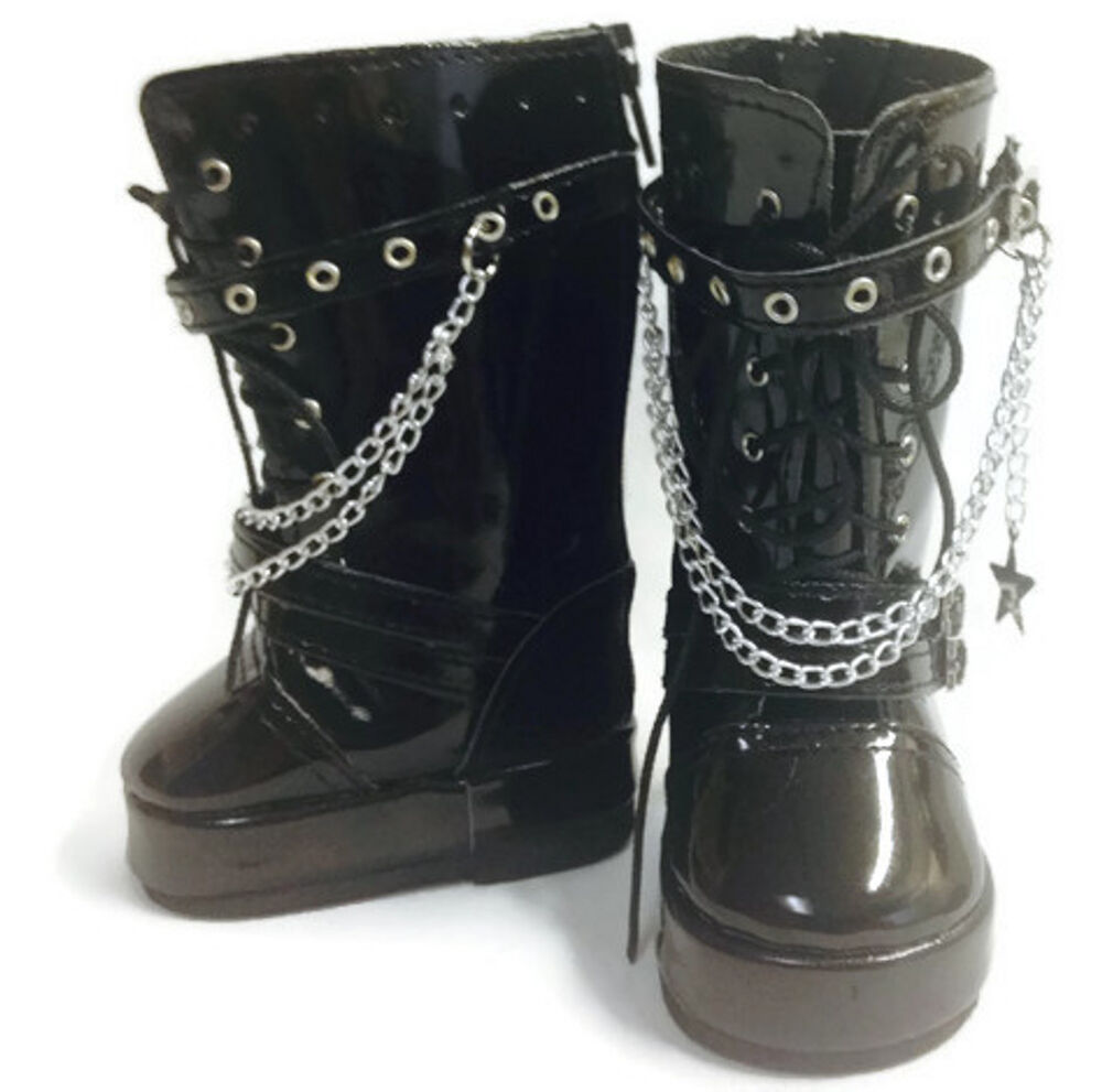 black go go boots with chains shoes made for 18 quot american