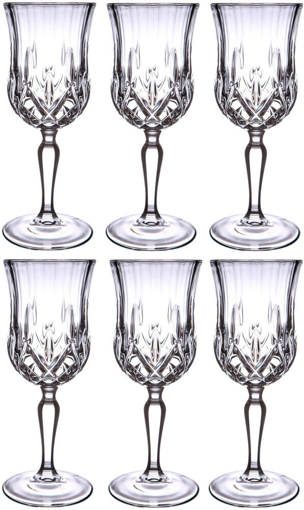 crystal wine glasses rcr opera glass wine glasses 23cl box of 6 30002