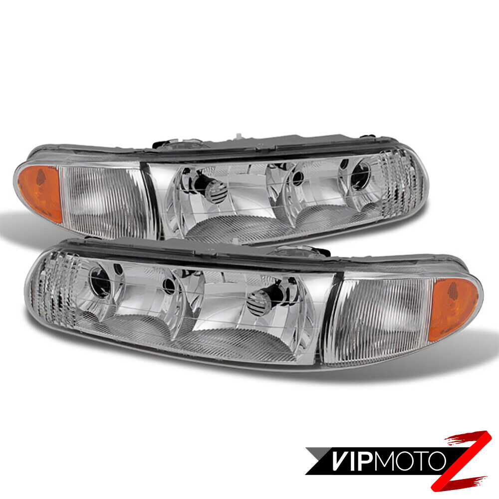 99 Buick Regal Gs: 1997-2005 Buick Century Regal COMPLETE Front Headlights