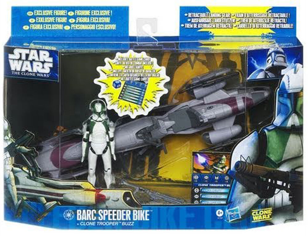 Star Wars The Clone Wars Toys : Star wars the clone quot barc speeder bike with trooper