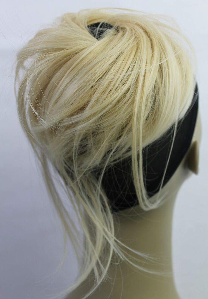 New Synthetic Hairpiece Bun Scrunchies Straight Elastic
