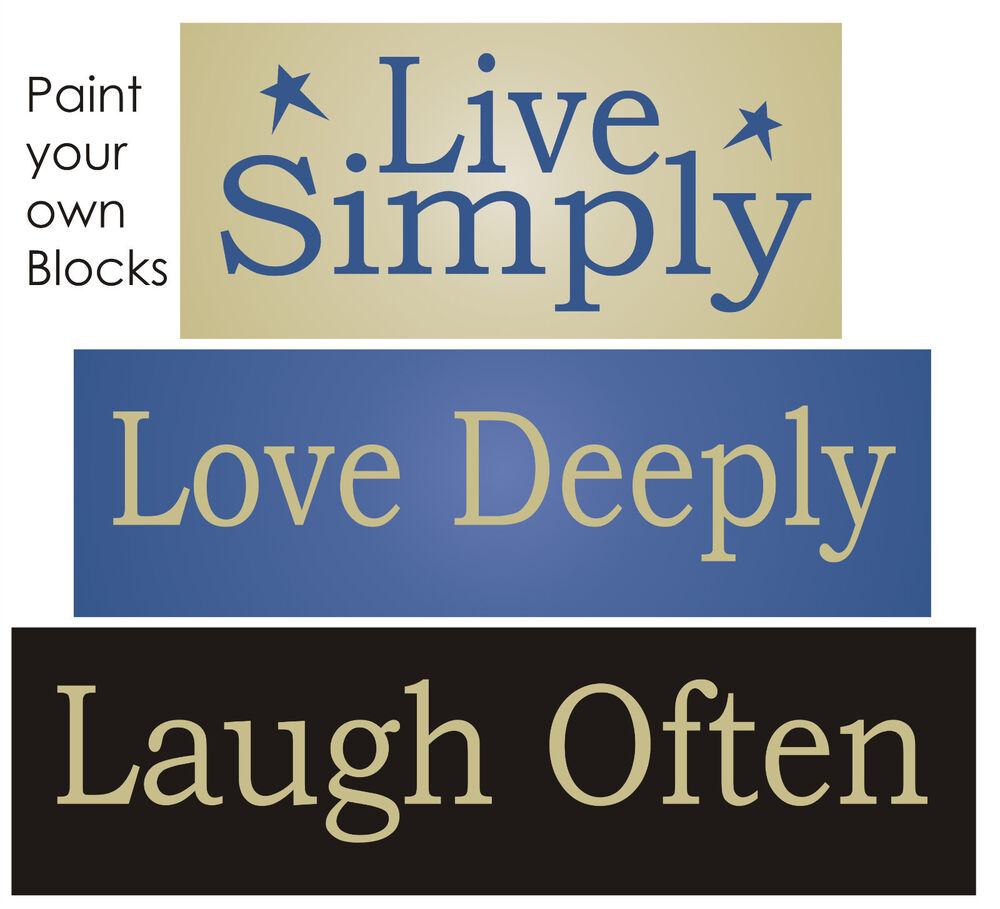Joanie Stencil Live Simply Love Deeply Laugh Often Country