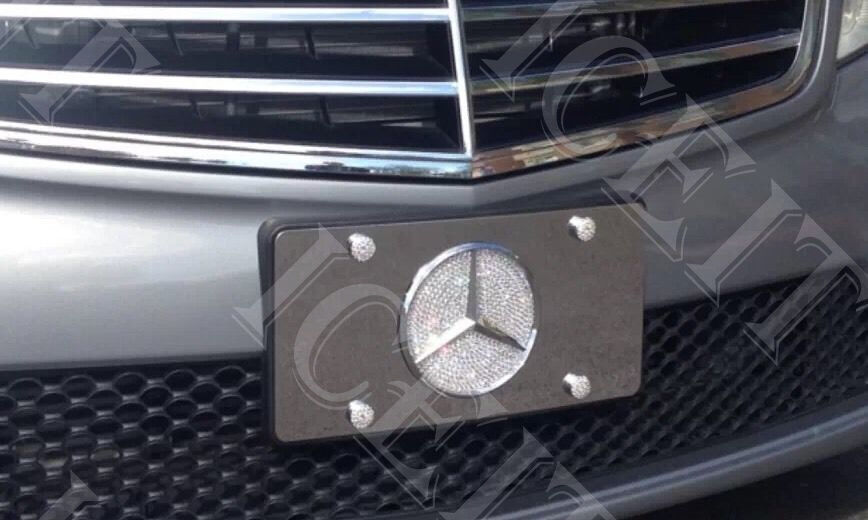 Mercedes mirror vanity front license plate frame 1mmheavy for Mercedes benz front license plate frame