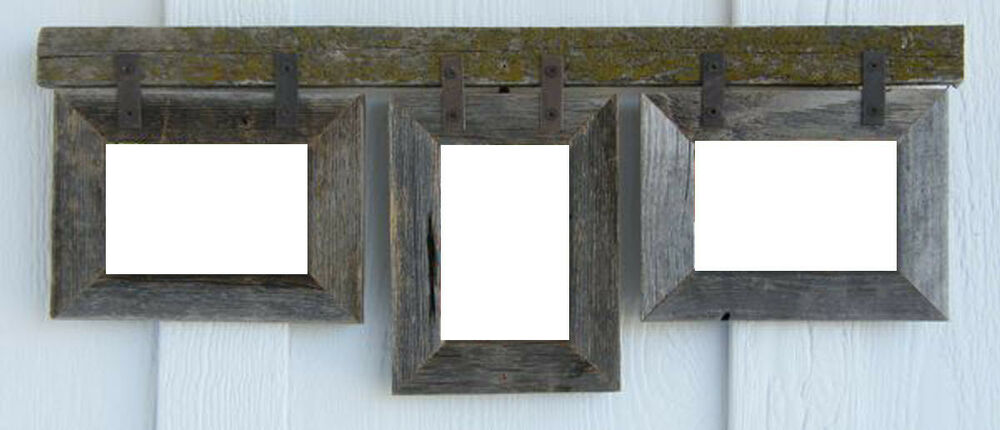 barn wood 3 5x7 rustic style picture photo collage frame choose your color ebay