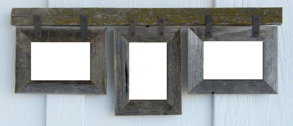 Barn Wood 3 5x7 Rustic Style Picture Photo Collage Frame