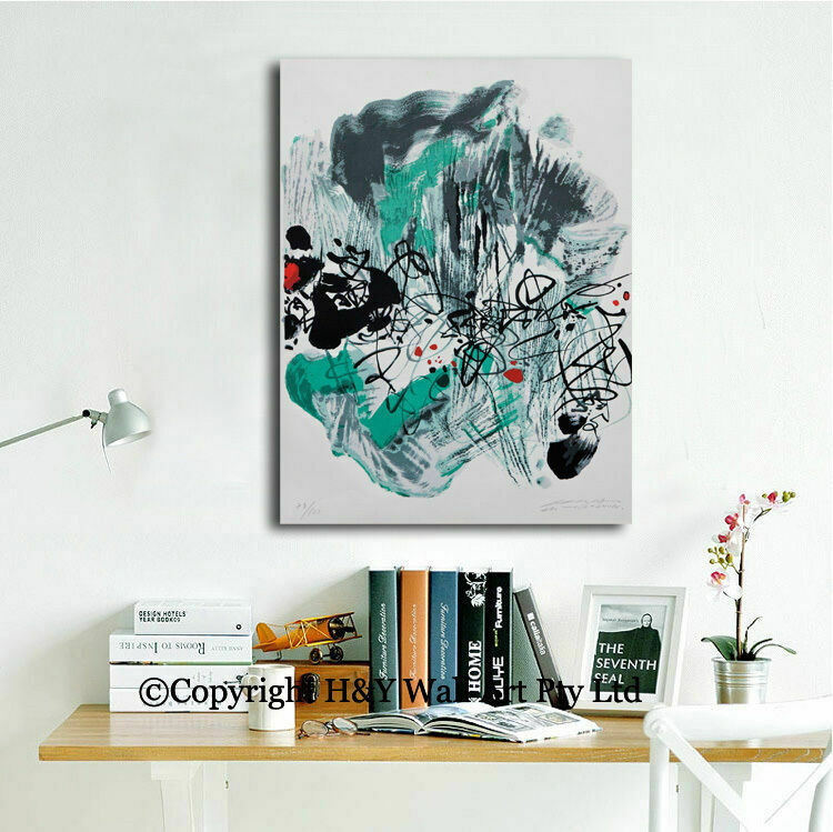 Abstract Stretched Canvas Prints Framed Wall Art Home