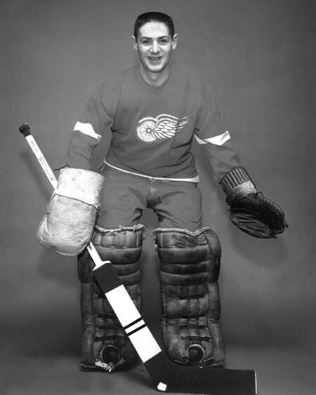 Hockey goalie coloring pages detroit red wings ~ 1950s Detroit Red Wings TERRY SAWCHUK Glossy 8x10 Photo ...