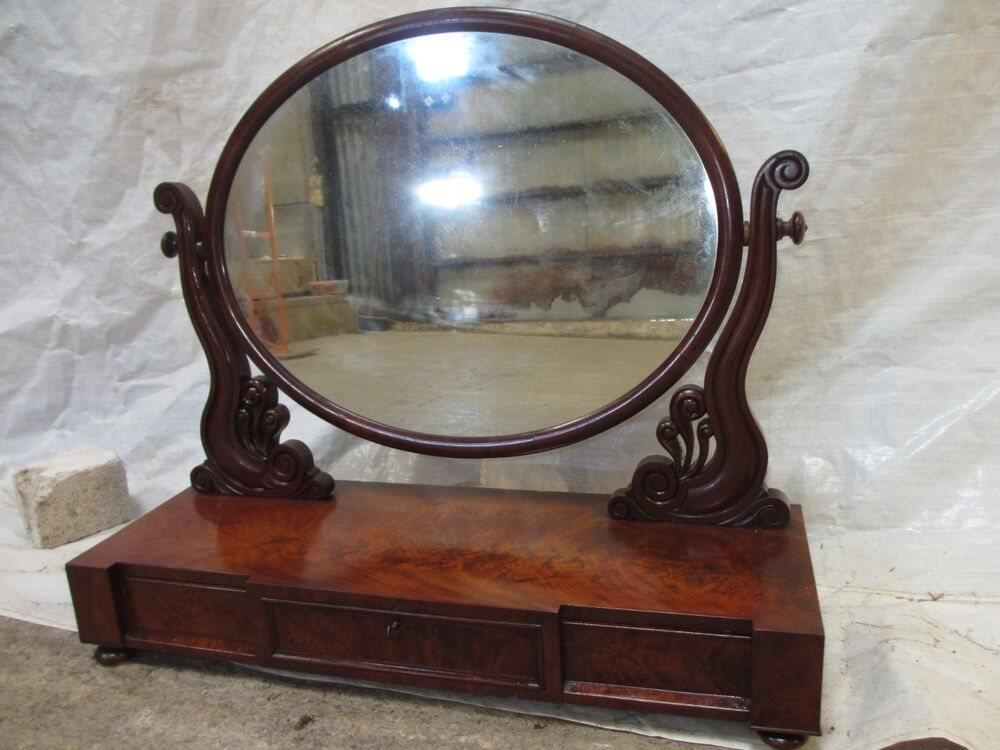 Antique victorian swinging table top mirror