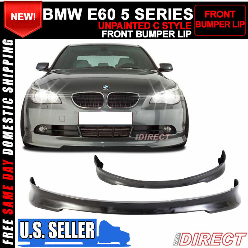 04 07 bmw e60 5 series c style front bumper lip spoiler ebay. Black Bedroom Furniture Sets. Home Design Ideas