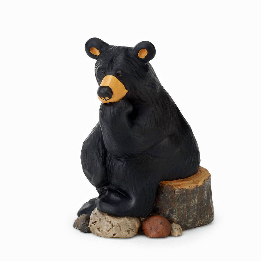 Big sky carvers bearfoots bear thinking figurine the