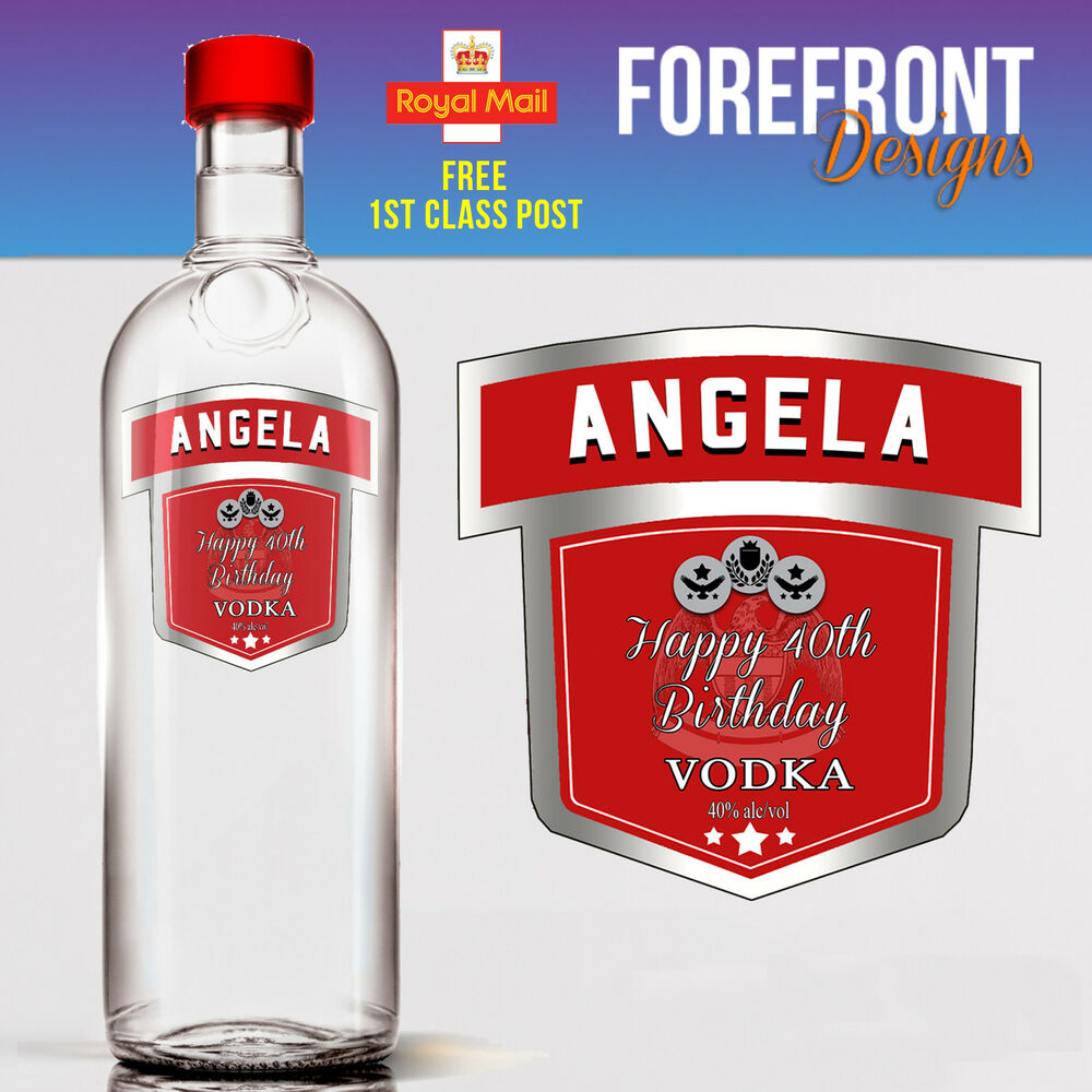 It's just an image of Dynamic Personalised Vodka Bottle Labels
