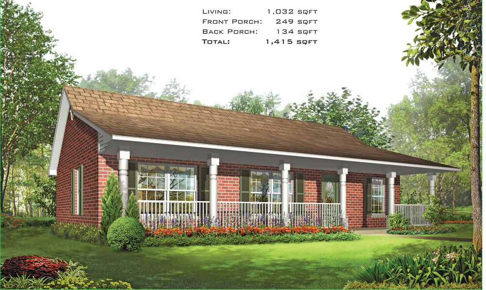 Steel frame home kit 3 bedroom 2 bath 1415 sqft ebay for One bedroom home kits