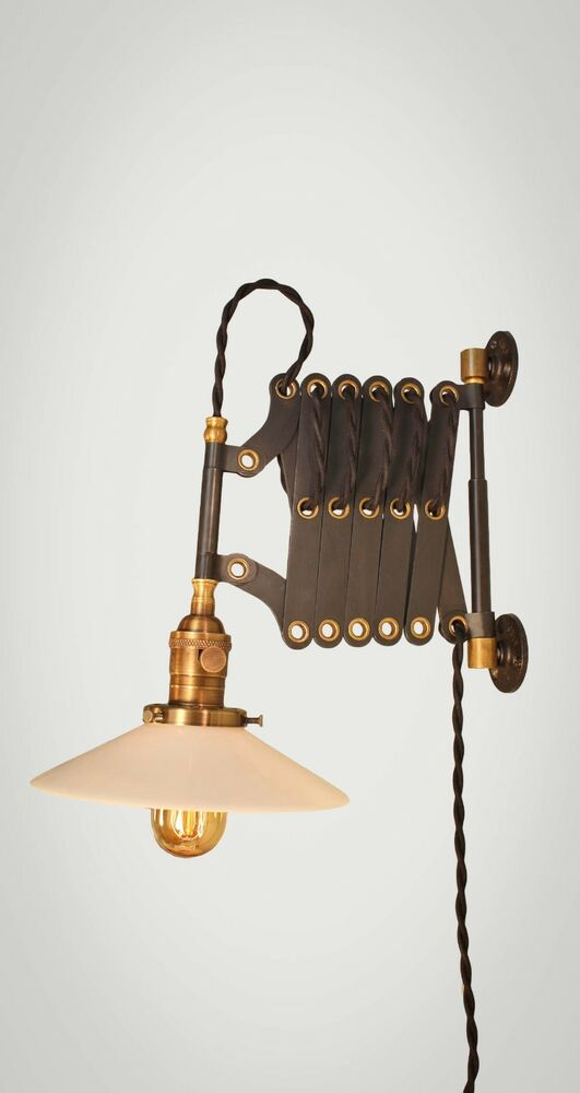 Industrial Lighting Vintage Scissor Lamp Accordion