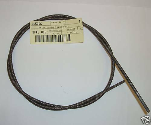 Flex Drive Cables : Genuine mcculloch flexible drive shaft cable fits trimmac