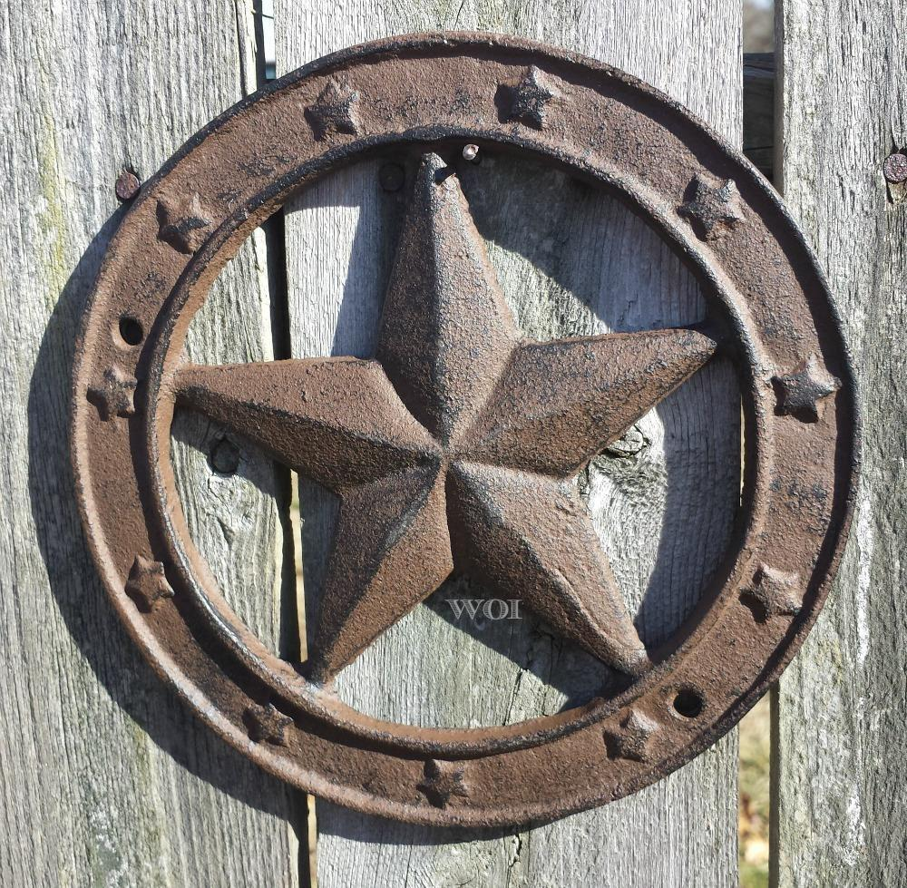 Distressed Cast Iron Country Barn Plaque Metal Wall ...
