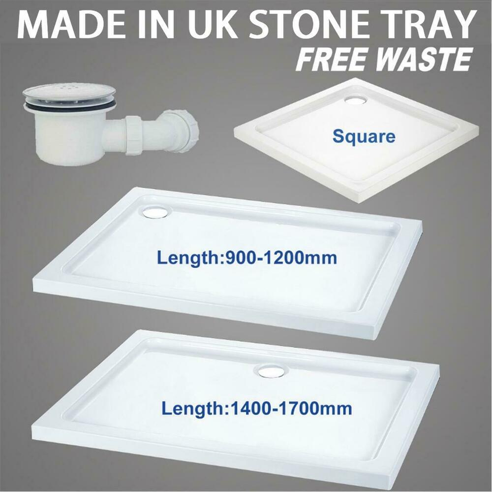 square rectangle shower tray for shower enclosure glass