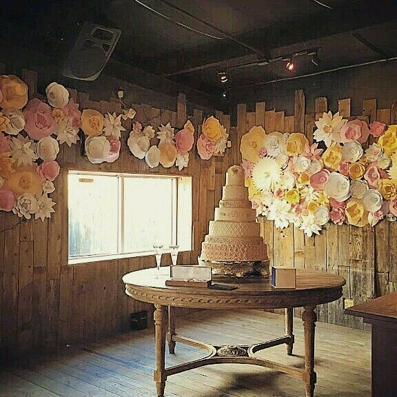Paper Flower Decor. Photo Backdrop. Store Display. Bridal