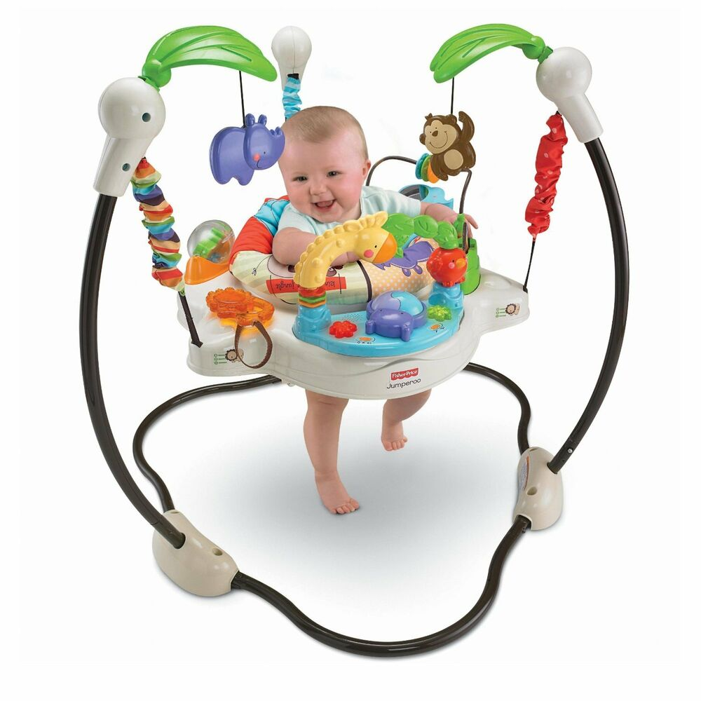 Fisher price luv love you u zoo jungle jumperoo baby for Door jumperoo