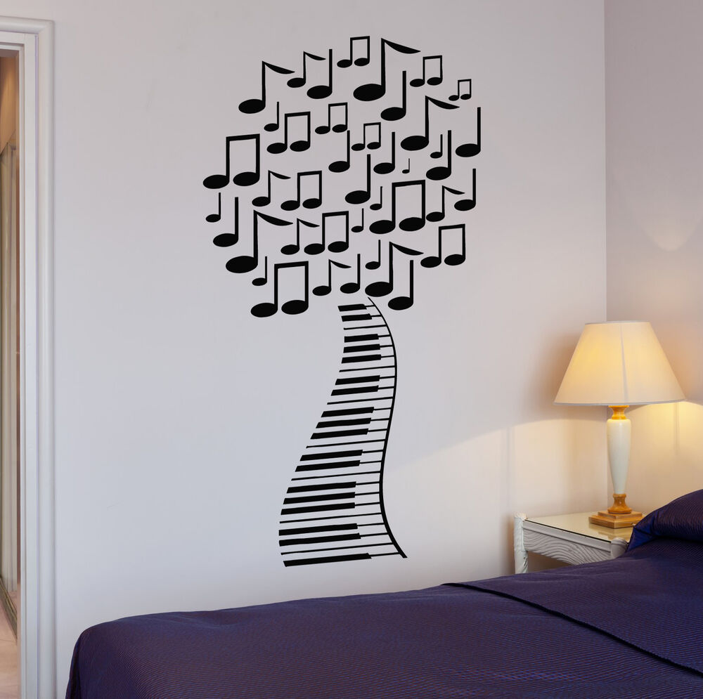 Wall Stickers Musical Tree Music Piano Sheet Art Mural Vinyl Decal Ig1992 Ebay