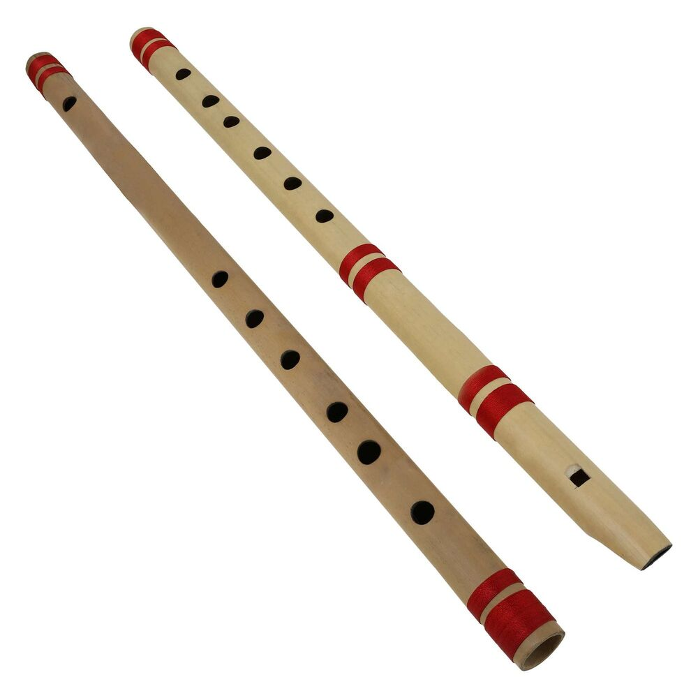 Indian Bamboo Flute Bansuri, Set of 2, Fipple& EE Transverse, for Professional eBay
