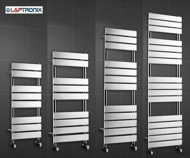 Luxury Designer Chrome Flat Panel Towel Rail Bathroom