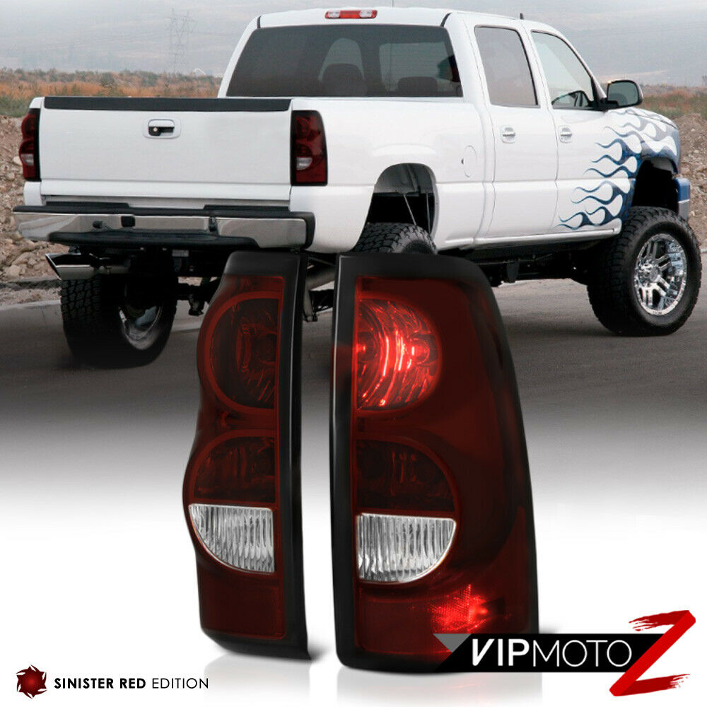 2003 2006 chevy silverado dark red brake tail lights lamps. Black Bedroom Furniture Sets. Home Design Ideas