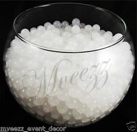 WHITE WATER BEADS AQUA GEMS BIO GEL BALLS CRYSTAL SOIL WEDDING VASE CENTERPIECE