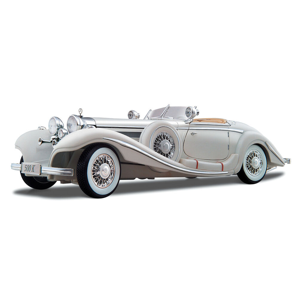 Mercedes benz 500k 1936 1 18 scale diecast car model die for Diecast mercedes benz
