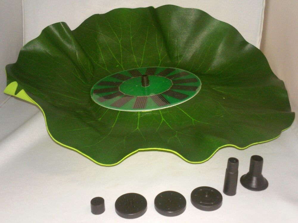 Cordless Floating Lily Pad Solar Power Water Fountain Fish Pond Pool Spray Pump Ebay