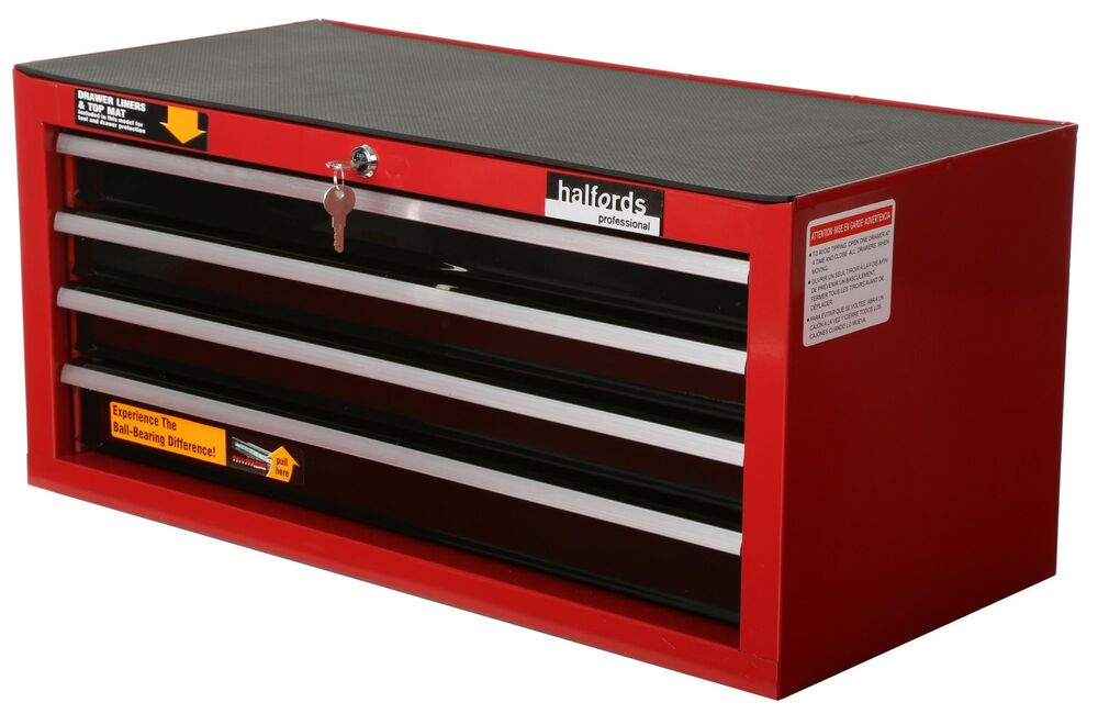 Halfords Professional Tool Chest Red 4 Drawer Intermediate