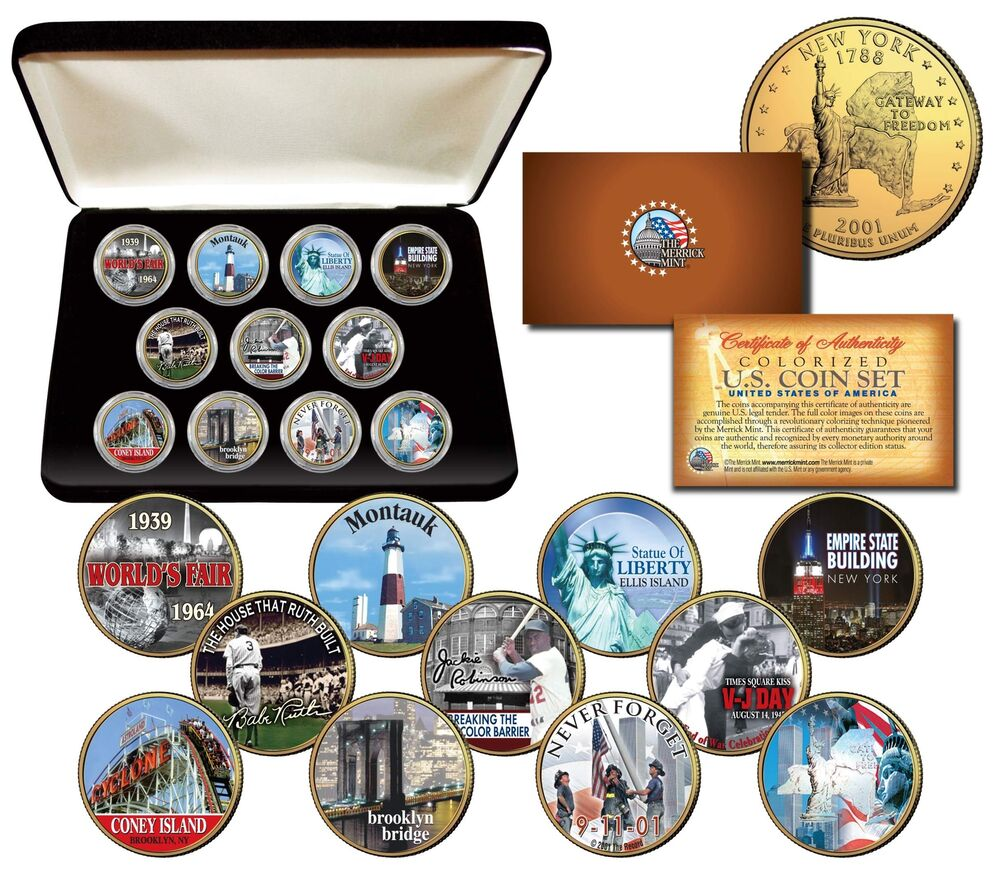 New York State Collection Colorized Ny Quarters Us 11 Coin