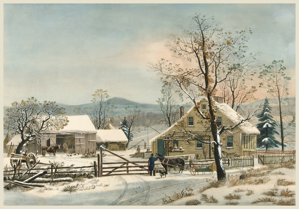Currier & Ives Reproduction: A New England Winter Scene ...