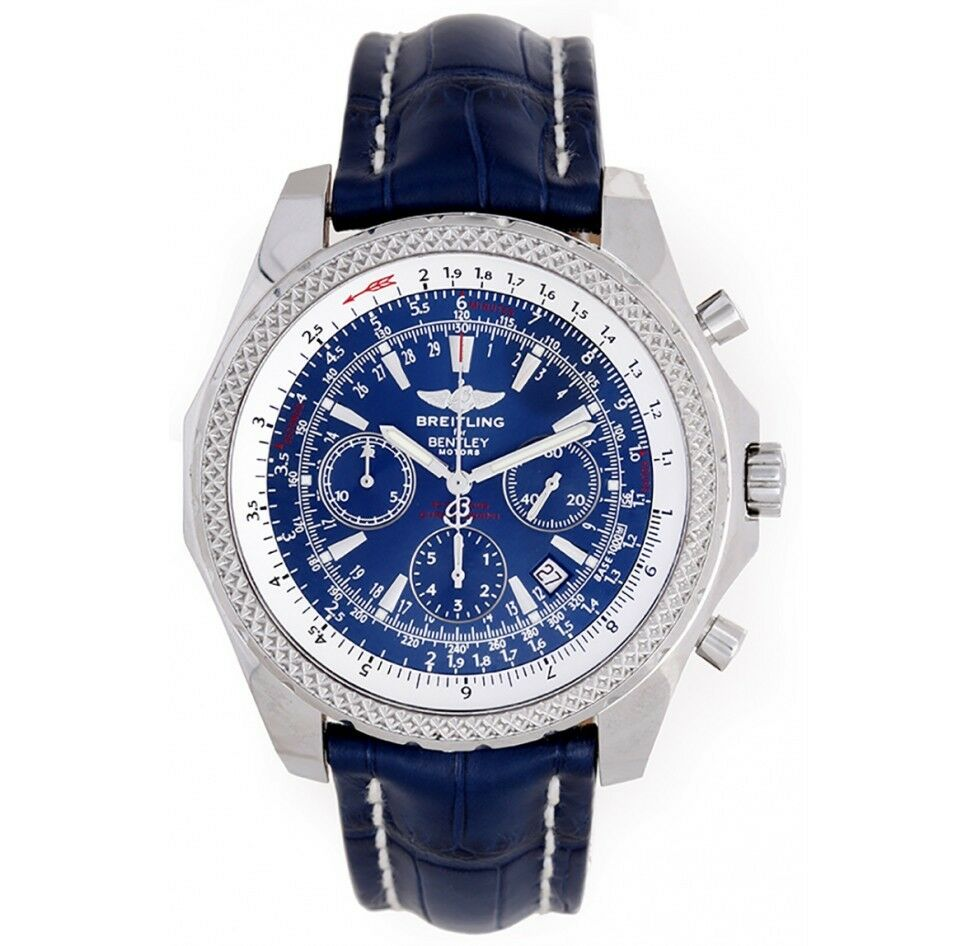 Breitling For Bentley Infos Price History: Breitling Bentley Motors Stainless Steel Neptune Blue Dial