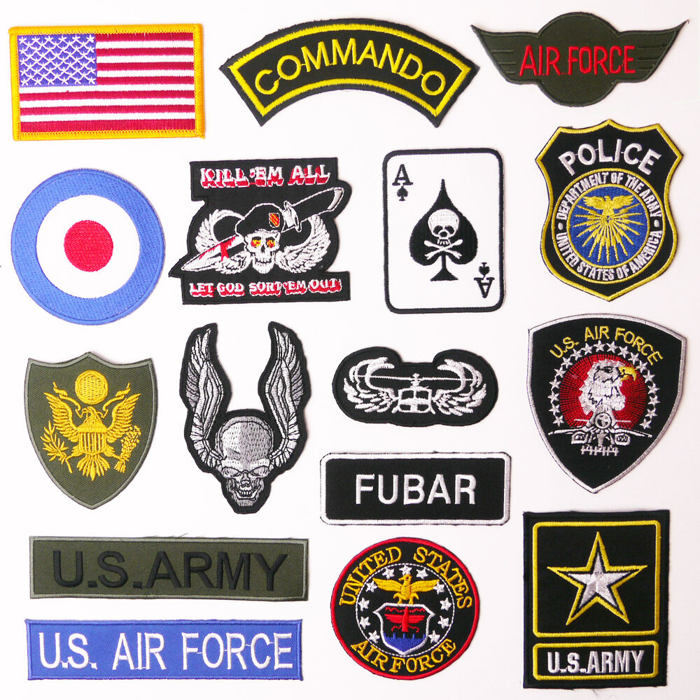 us military patch shop any patch embroidered iron on uk free post ebay. Black Bedroom Furniture Sets. Home Design Ideas