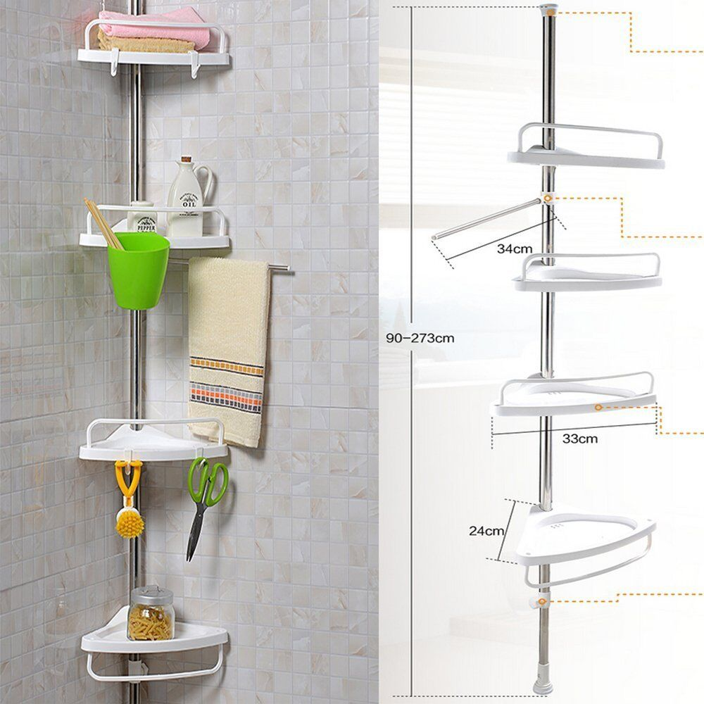 Corner shower bathroom tidy basket caddy shelf storage - Bathroom storage baskets shelves ...