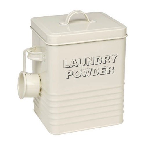 Laundry Powder Storage Box Vintage Retro Container Washing