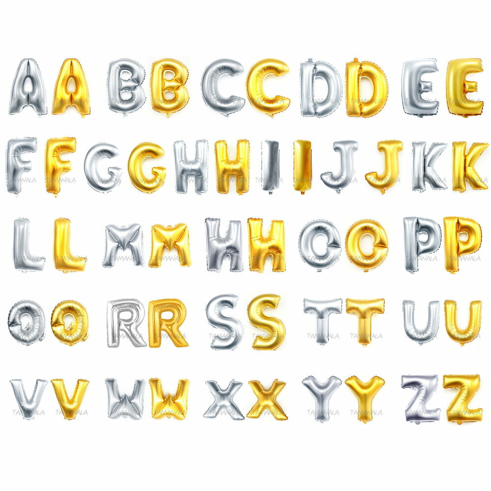 Alphabet Foil Silvers: Z Large Letter Balloons In Gold